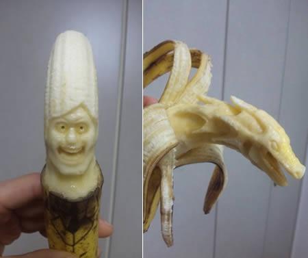 seni ukiran buah pisang,jgn lupa wownya