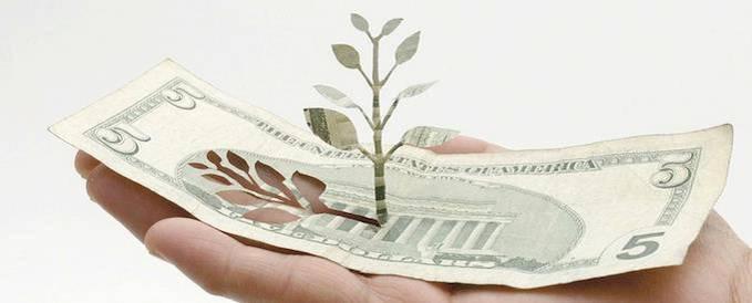 [Seni gunting kertas] Pohon yang terbuat dari uang dollar...