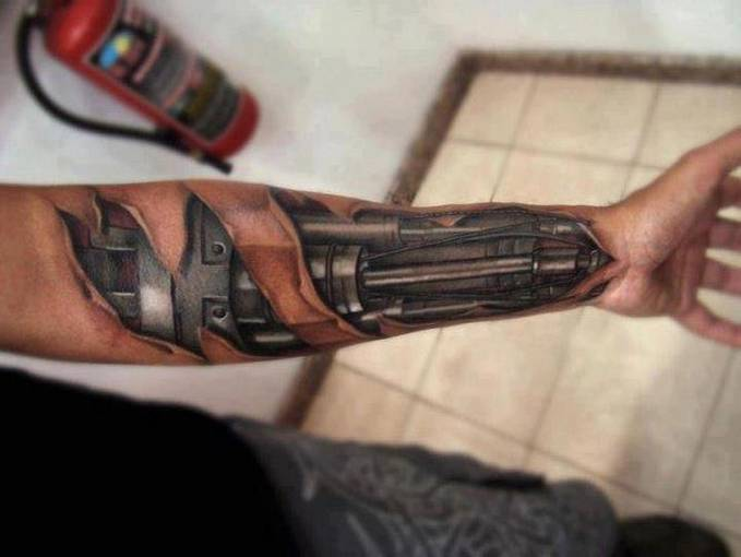 Mr. Roboto (TATO) - Tatto 3 Dimensi, jadi kelihatan seperti manusia dengan Tangan Robot Sungguhan ya!