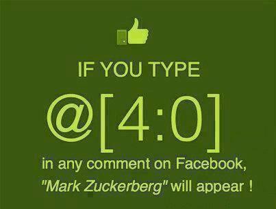 Coba deh kalian ketik dikomentar code ini akan berubah menjadi nama pendiri facebook Mark Zuckerberg