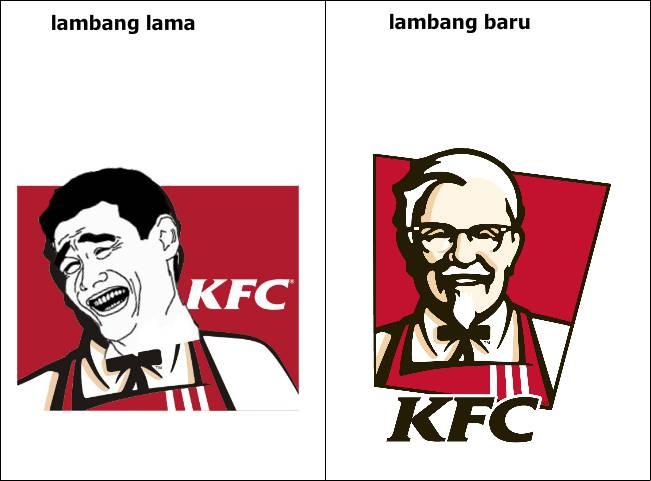 perbedaan lambang KFC