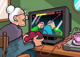 keren,..!!! jamannya 2013 nenek-nenek main PS game pilinan tangan tuh,.!