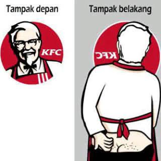 anda jangan sering makan di KFC,.. kokinya aja kaya gitu,.! apa lagi makannannya,.. iyuuhhh,.. sobat pada geli gak,.?????? pastinya geli banget ya,.!!!!