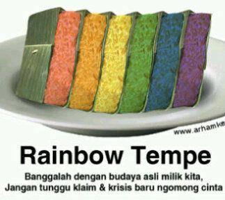 RAINBOW TEMPE kuliner khas indonesia XD ada yang udah cubain g ????