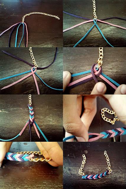 cara membuat gelang dari tali