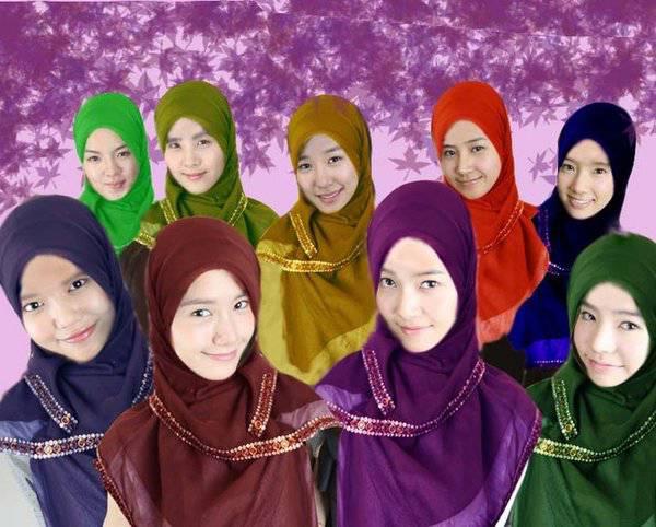 SNSD pake kerudung! Pada setuju engga nih SONE kalo SNSD pake jilbab.. cantik kan mana ? pake jilbab atau engga? menurut gu sih cantikkan pake kerudung;) lebih menutup aurat nya;) CAntik yaa WOW nya dong;)