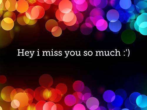 Hey i miss you so much:) Wownya yaa^^