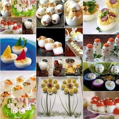 Telur rebus yang d buat berbagai bentuk yang lucu,, hummm so nyummy >