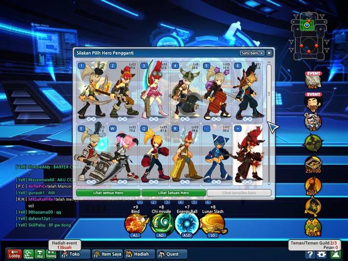 Jual Char lost saga d2-3.. 500k hero permanen 14.. berminat datangi BATURAJA SUMSEL.. jika tidak jelas .. add fb e-mail ceferdironaldo@ymail.com