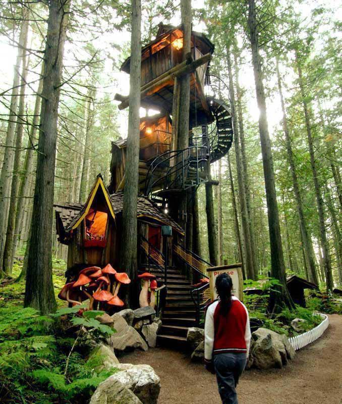 siapa yang mau punya rumah pohon ini? keren kan 8) WOW nya dong kakak (Y)