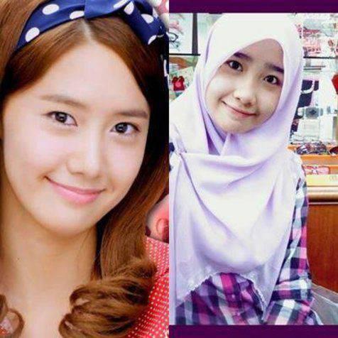 wanita asal malaysia yang bernama Rabiatul Afifah (kanan) ini mirip sekali dengan Yoona (kiri) salah satu member SNSD. tidak di edit, dan tidak di rekayasa, yang setuju klik WOW.