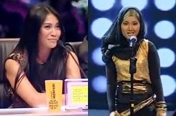 Anggun memuji suara unik dan penampilan Fatin yang berbeda di acara X Factor Indonesia.