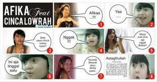 afika feat cinci lowrah bwahahahahah
