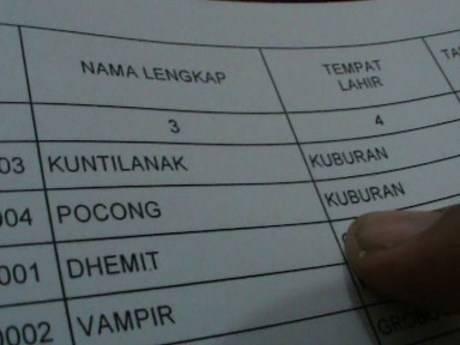 Gundul Pecengis, Kolor Ijo, Tuyul, Suster Ngesot, Setan Kredit, Kuntilanak, Pocong, Dhemit dan Vampir ikut pemilihian Gubernur Jawa Tengah
