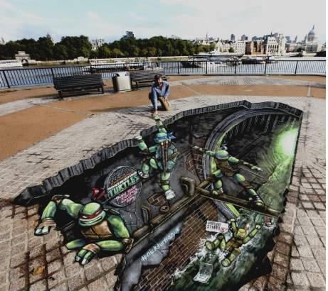 Ini adalah hasil lukisan 3 Dimensi dari Seorang Seniman bagaimana menurut kalian, keren g ? :) jngn lupa klick wow ya