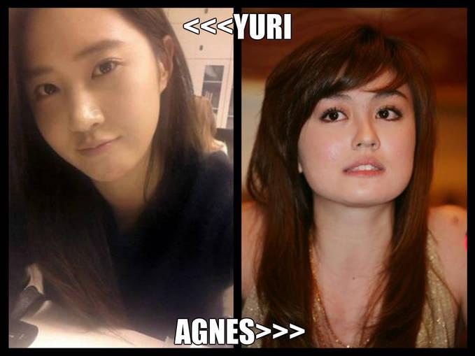 MNA YG LEBIH CANTIK >>???? klok YURI=WOW AGNES=WOW + COMENT