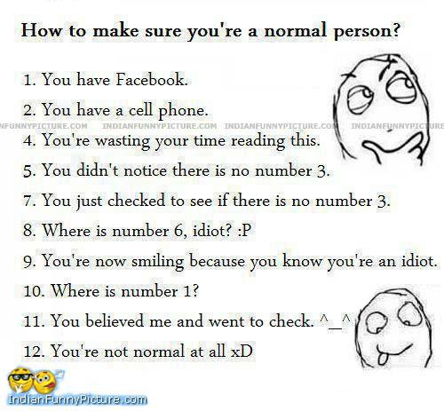 are you a normal person??