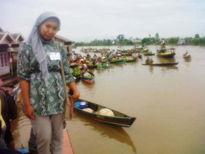 Floating Market in Lhok Baintan