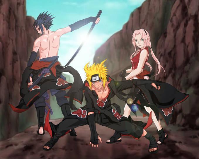 siapa yang setuju naruto,sasuke,sakura di team akatsuki ?????????????????