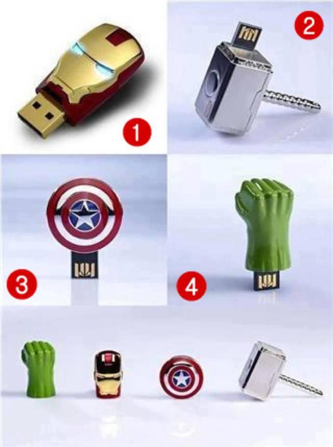 Ini Ada Flashdisk dengan desain The Avengers, Atau Beberapa SUper HERO. Kamu Pilih yang nomor Berapa ?