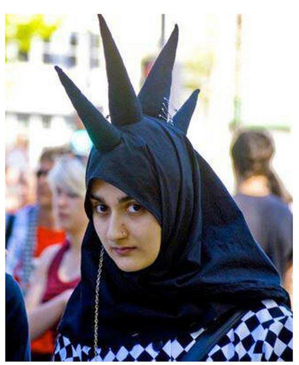 Fesyen Hijab Gabung Punk - Gambar Pelik @ Blog 3 Dalam 1