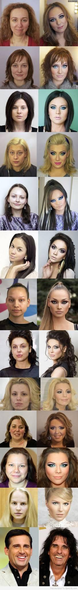 Shocking Picture, Sebelum Dan Sesudah Make-Up *KekuatanMakeUp