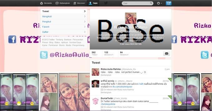 hallo.. follow twitter aku ya @RizkaAulia_Ra .. mention aja kalau mau follback :) add facebook aku juga ya Rizkaa Aulia Rahmaa eittss .. jangan lupa WOW nya yaa :) ;) :D