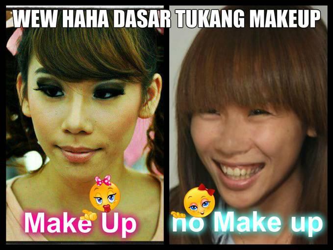 Cherly Cherrybellle dengan make up dan tanpa make up, aduh mba cherly kurang tebel tuh makeup nya-__- ckckck Jangan Lupa WOW nya :)