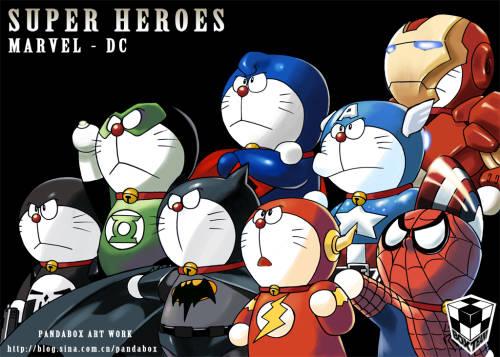 ini dia doraemon versi marvel heroes