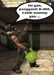 wah!! ternyata game online point blank sudah mengganti bom nya dari k-400 menjadi gas elpiji gan... klik WOW ya,,,