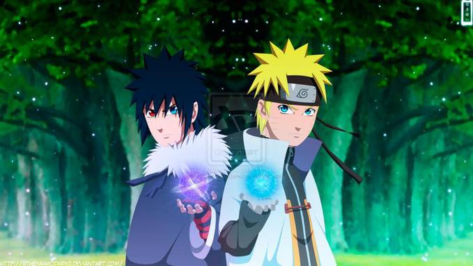 Uzumaki Naruto Dan Uchiha Menma