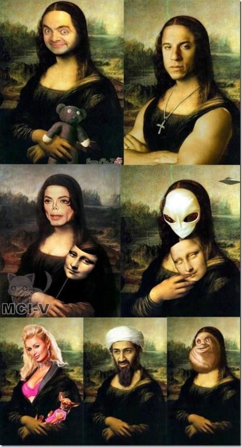 Berbagai macam pergantian wajah Monalisa :D