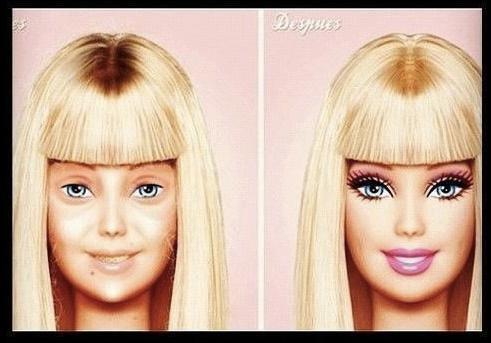 Barbie tanpa make up. JELEK!! Klik WOW dong ^^
