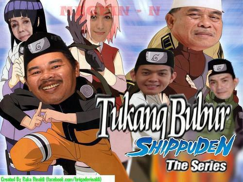 Tukang bubur naik haji versi Naruto shippuden. Yang pingin nonton WOW yaa