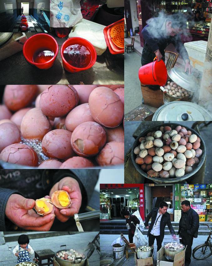 TELUR REBUS AIR SENI Anda mungkin sudah biasa mengkonsumsi telur rebus, baik untuk sarapan, makan siang atau makan malam. Tapi, pernahkah mencoba telur yang direbus dengan urin? Olahan makanan ekstrim ini hanya ada di Provinsi Zhejiang, Cina.