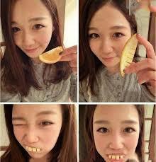 hahah.. gigi palsu dapat dibuat dari kulit jeruk niiii