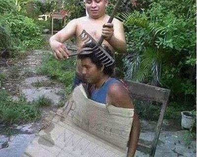 ada yg mau di cukur seperti ini ?hahahaha