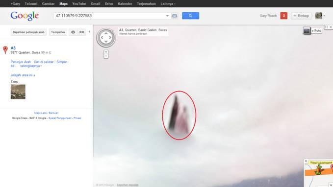 Ada penampakan di Google Maps! coba test Sendiri di : http://sphotos-c.ak.fbcdn.net/hphotos-ak-snc7/482342_317644138358030_826276727_n.png