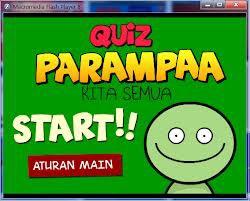 quiz parampaa adalah quiz yang akan mengasah otak anda dan membuat sakit kepala...kalo mau coba silahkan.