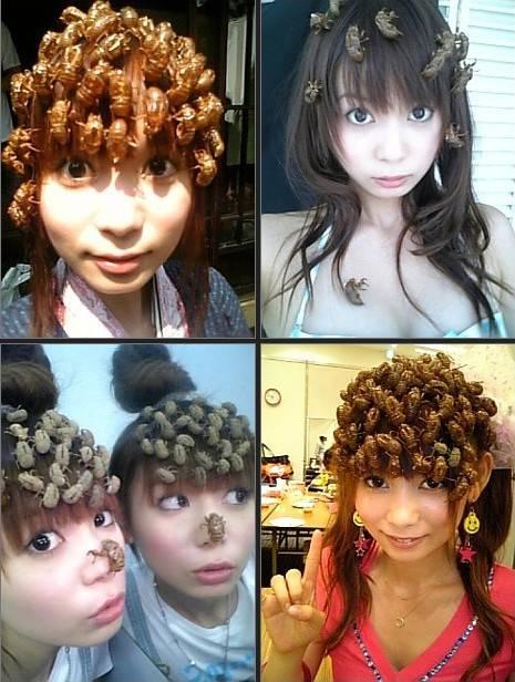 Wanita asal Jepang bernama Shoko Nakagawa memiliki hobi yang sangat unik dan mungkin tidak ada yang mau untuk mengikuti hobi wanita ini sebab hobi wanita ini adalah menaruh kecoa di atas kepalanya sebagai hiasan rambut. ada yg pngen kya dia ??