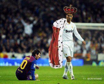 CR7 >>> Like >>> WOW MESSI >>> Comment >>> WEW