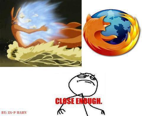 Kyubi+Rasengan=Mozilla Firefox :D
