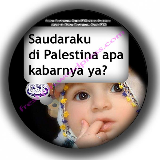 WOW baik skali adik kita ini .. dia masih ingat sama kluarga yg ada di Palestina ..