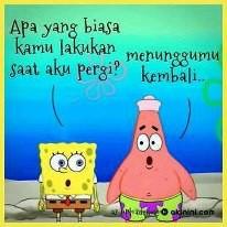 Spongebob Vs Patrick mana nih WoW nya???...