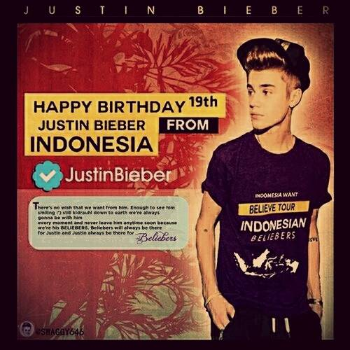 Happy 19th Birthday Justin Bieber :)