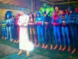 super hero aja msh sempat untuk mendahulukan iman