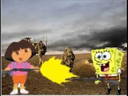siapa yg menang???? spongebob vs dora