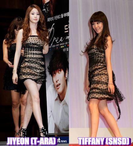 menurut kalian lebih cocok siapa yang pake baju ini ?? jiyeon atau tiffany ??
