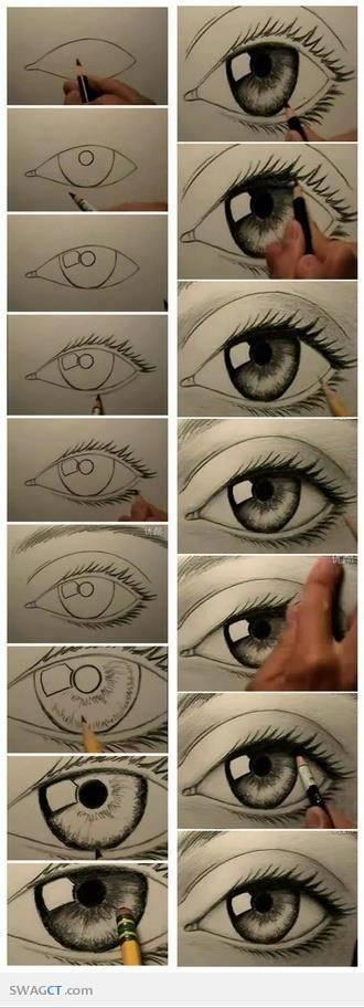 Cara Menggambar Mata Yang Sempurna !