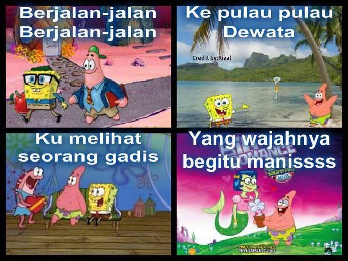 Patrick And Spongebob lagi jalan-jalan ke Pulau Dewata Ehk Di sana mereka ketemu Putri duyung yang cantik